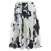 Buy Mint Velvet Orchid Print 50s Skirt, Multi Online at johnlewis.com