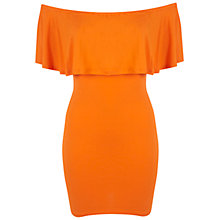 Buy Miss Selfridge Ruffle Bardot Dress, Orange Online at johnlewis.com