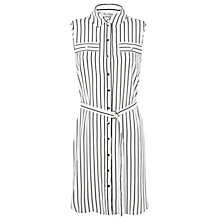 Buy Miss Selfridge Striped Shirt Dress, White Online at johnlewis.com