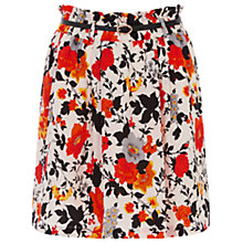 Buy Oasis Floral Print Skirt, Mid Neutral Online at johnlewis.com