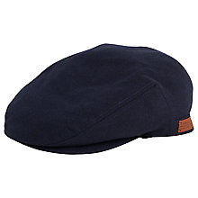 Buy Gant Flannel Driver Cap, Navy Online at johnlewis.com