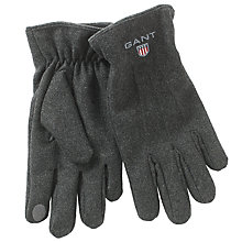 Buy Gant Touch Screen Melton Gloves Online at johnlewis.com