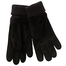 Buy Gant Suede Leather Gloves, Black Online at johnlewis.com