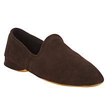 Buy John Lewis Seville Suede Slippers, Brown Online at johnlewis.com
