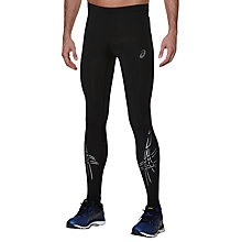 Buy Asics Tiger Stripe Running Tights, Black Online at johnlewis.com