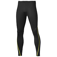 Buy Asics Lite Show Winter Running Tights, Performance Black/Safety Yellow Online at johnlewis.com