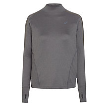 Buy Asics LiteShow Neck Running Top, Grey Online at johnlewis.com