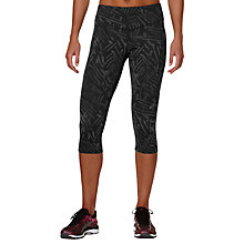 Buy Asics 3/4 Graphic Tights, Black Online at johnlewis.com