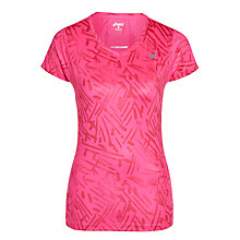 Buy Asics Graphic Print Running Top, Pink Online at johnlewis.com