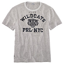 Buy Polo Ralph Lauren Wildcats T-Shirt, Dark Vintage Heather Online at johnlewis.com