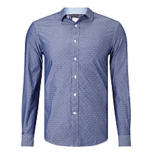 Buy Dockers Refined Dobby Shirt, Rick Estate Blue Online at johnlewis.com