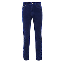 Buy Polo Ralph Lauren Varick Slim Fit Corduroy Trousers, Navy Online at johnlewis.com