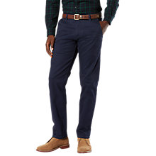 Buy Dockers Slim Tapered Twill Trousers, Navy Online at johnlewis.com