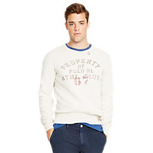 Buy Polo Ralph Lauren Fleece Crewneck Pullover, Newport Heather Online at johnlewis.com