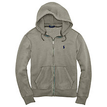 Buy Polo Ralph Lauren Fleece Full-Zip Hoody, Basecamp Heather Online at johnlewis.com