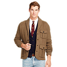 Buy Polo Ralph Lauren Shawl Neck Cardigan, Olive Online at johnlewis.com
