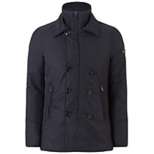 Buy Hackett London Down Reefer Jacket, Navy Online at johnlewis.com