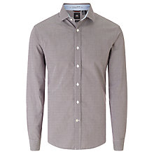 Buy Dockers Fitted Poplin Shirt, Merlot Online at johnlewis.com