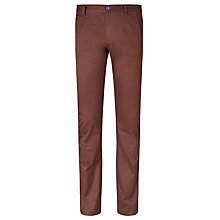 Buy Dockers Alpha Slim Tapered Twill Trousers, Teak Online at johnlewis.com