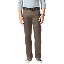 Buy Dockers Slim Tapered Twill Trousers, Dark Pebble Online at johnlewis.com