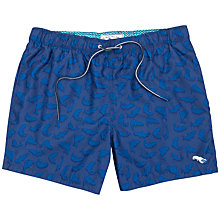 Buy Ted Baker Janby Fish Print Swim Shorts, Bright Blue Online at johnlewis.com