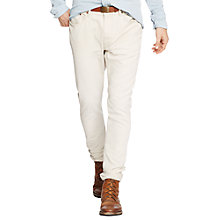 Buy Polo Ralph Lauren Varick Slim Straight Trousers, Stoneware Grey Online at johnlewis.com