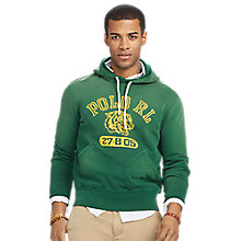 Buy Polo Ralph Lauren Print Hoodie, Vintage Pine Online at johnlewis.com