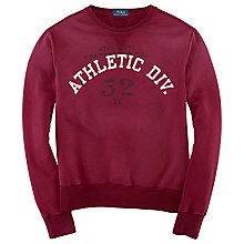Buy Polo Ralph Lauren Crew Neck Sweatshirt, Classic Wine Online at johnlewis.com