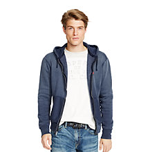 Buy Polo Ralph Lauren Full Zip Hoodie, Driver Navy Online at johnlewis.com