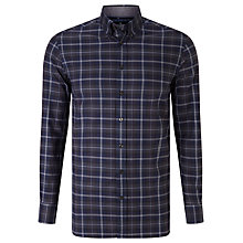 Buy Hackett London Ebony Tonal Tartan Shirt, Blue Online at johnlewis.com