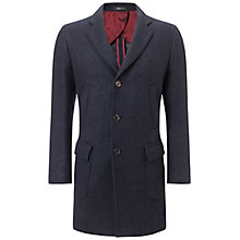 Buy Hackett London Double Face Wool Overcoat, Navy Online at johnlewis.com