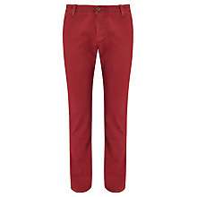 Buy Dockers Alpha Mist Wash Slim Tapered Trousers, Biking Red Online at johnlewis.com