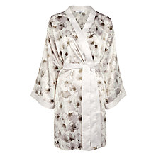 Buy John Lewis Shadow Floral Satin Robe, Grey Online at johnlewis.com