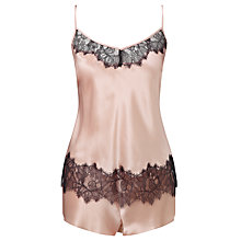 Buy Somerset by Alice Temperley Mia Cami And Short Silk Pyjama Set, Blush Online at johnlewis.com