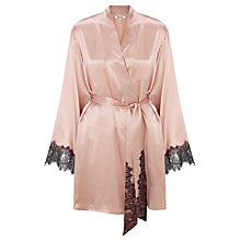 Buy Somerset by Alice Temperley Mia Silk Robe, Blush Online at johnlewis.com