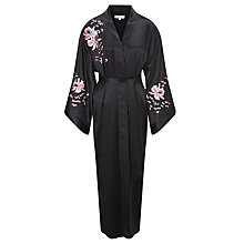 Buy Somerset by Alice Temperley Embroidered Orchid Kimono Silk Robe, Multi Online at johnlewis.com