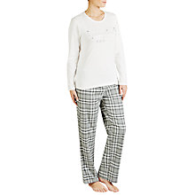 Buy John Lewis Dream Check Pyjama Set, Grey/Ivory Online at johnlewis.com
