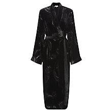 Buy Somerset by Alice Temperley Devore Robe, Black Online at johnlewis.com