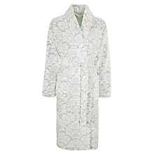 Buy John Lewis Damasz Embossed Robe, Grey Online at johnlewis.com