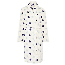 Buy John Lewis Spot Fleece Robe, Multi Online at johnlewis.com