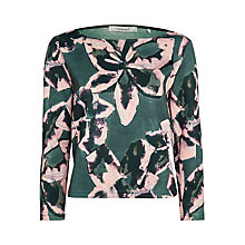 Buy Marella Urbino Floral Scuba Top, Iron Online at johnlewis.com