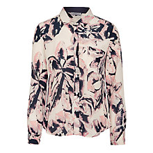 Buy Marella Tanaro Floral Silk Shirt, Ivory Online at johnlewis.com