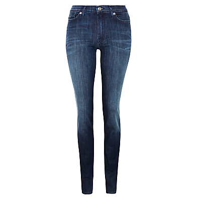 7 For All Mankind High Waist Super Skinny Jeans, Coronado Dark