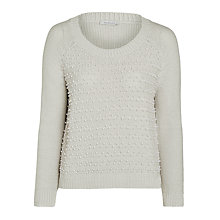 Buy Marella Granito Pearl Studded Jumper, Pearl Grey Online at johnlewis.com