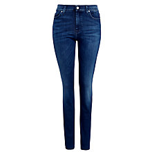 Buy 7 For All Mankind Rozie High Waist Slim Jeans, Digital Blue Mid Online at johnlewis.com
