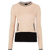 Buy Armani Jeans Colour Block Jumper, Nude/Black Online at johnlewis.com