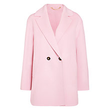 Buy Marella Tobia Wool Cashmere Coat, Pink Online at johnlewis.com