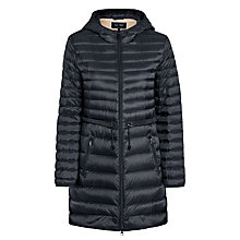 Buy Armani Jeans Drawstring Quilted Coat, Black Online at johnlewis.com
