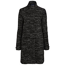 Buy Armani Jeans Tweed Dress Coat, Black Online at johnlewis.com