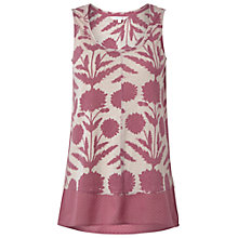 Buy White Stuff Bea Print Vest Top, Muted Cranberry Online at johnlewis.com